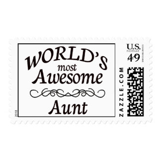 World's Most Awesome Aunt Postage Stamp