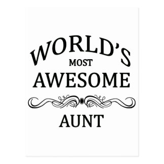 World's Most Awesome Aunt Postcard