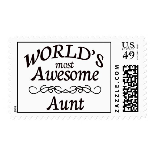 World's Most Awesome Aunt Stamps