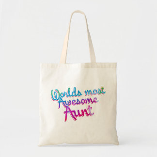 Worlds most awesome aunt tote bag