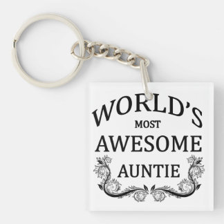 World's Most Awesome Auntie Keychain
