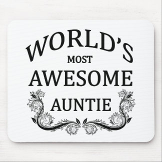 World's Most Awesome Auntie Mouse Pad