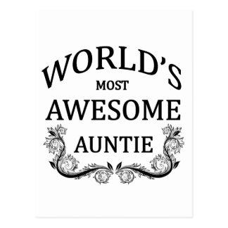 World's Most Awesome Auntie Postcard