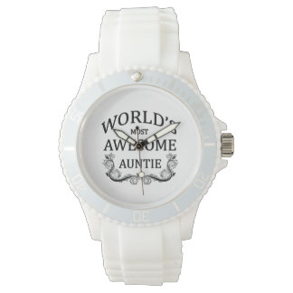 World's Most Awesome Auntie Wrist Watch