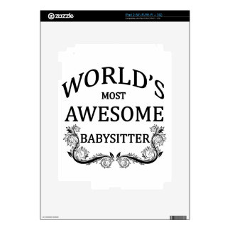 World's Most Awesome Babysitter iPad 2 Skin