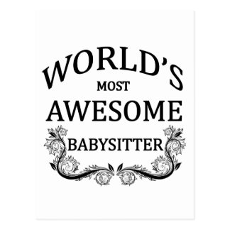 World's Most Awesome Babysitter Postcard