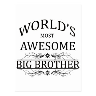 World's Most Awesome Big Brother Postcard