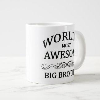 World's Most Awesome Big Brother 20 Oz Large Ceramic Coffee Mug