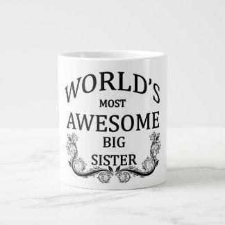 World's Most Awesome Big Sister Large Coffee Mug