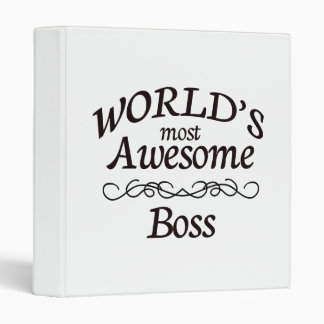World's Most Awesome Boss 3 Ring Binder