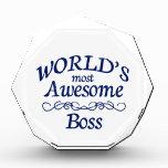 World's Most Awesome Boss Acrylic Award