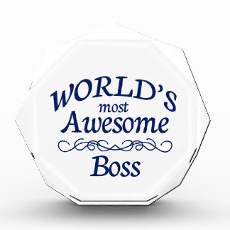 World's Most Awesome Boss Acrylic Award