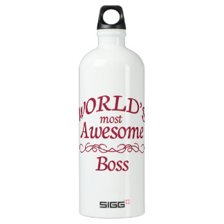 World's Most Awesome Boss Aluminum Water Bottle