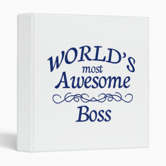 World's Most Awesome Boss Binder