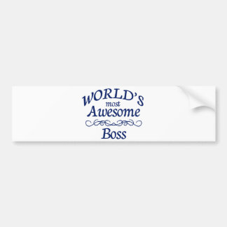 World's Most Awesome Boss Bumper Sticker
