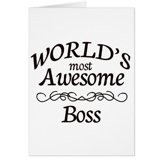 World's Most Awesome Boss Card