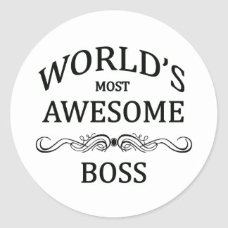 World's Most Awesome Boss Classic Round Sticker