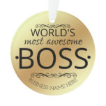 WORLD'S most awesome  Boss gift  Ornament
