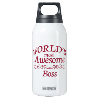 World's Most Awesome Boss Insulated Water Bottle