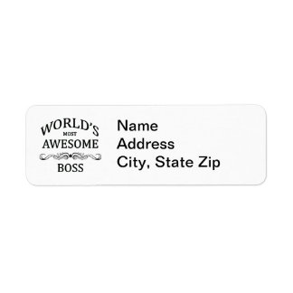 World's Most Awesome Boss Label