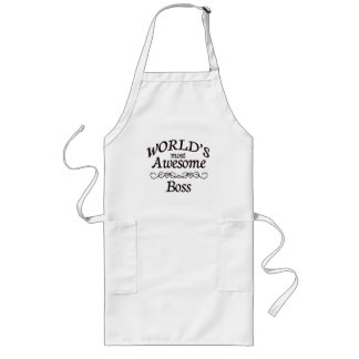 World's Most Awesome Boss Long Apron