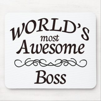 World's Most Awesome Boss Mouse Pad