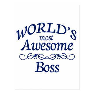 World's Most Awesome Boss Postcard