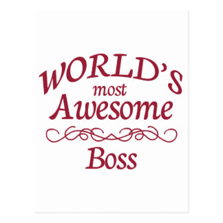 World's Most Awesome Boss Postcards