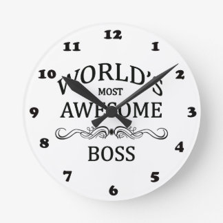 World's Most Awesome Boss Round Clock