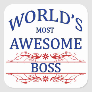 World's Most Awesome Boss Square Sticker