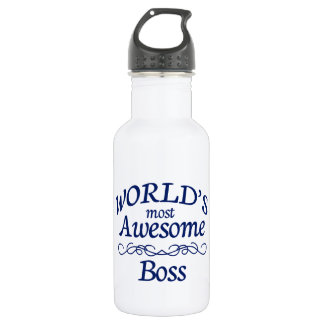 World's Most Awesome Boss Stainless Steel Water Bottle
