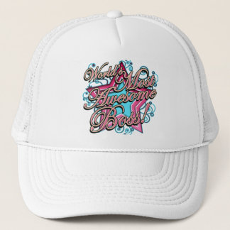 Worlds Most Awesome Boss Trucker Hat