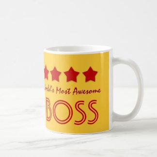 World's Most Awesome BOSS V03 RED Stars Coffee Mug