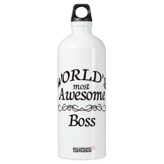 World's Most Awesome Boss Water Bottle