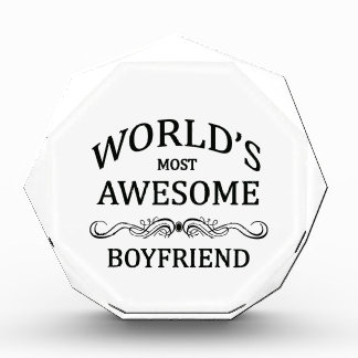 World's Most Awesome Boyfriend Acrylic Award