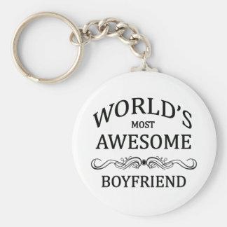 World's Most Awesome Boyfriend Basic Round Button Keychain