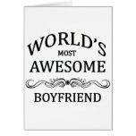 World's Most Awesome Boyfriend Card