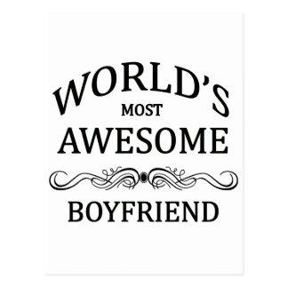 World's Most Awesome Boyfriend Postcard