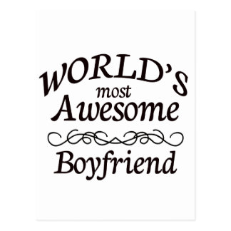World's Most Awesome Boyfriend Postcard