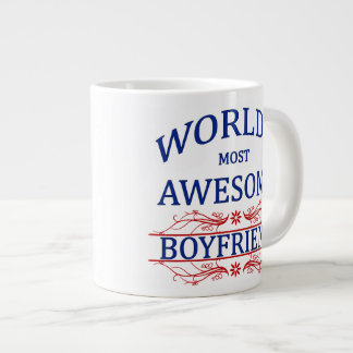 World's Most Awesome Boyfriend 20 Oz Large Ceramic Coffee Mug