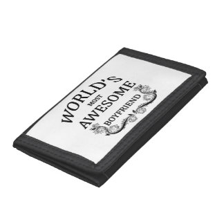 World's Most Awesome Boyfriend Trifold Wallets