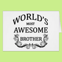 World's Most Awesome Brother Card