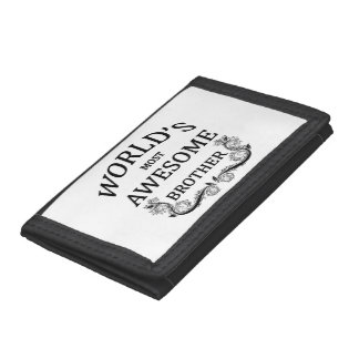 World's Most Awesome Brother Trifold Wallet