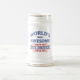 World's Most Awesome Bus Driver Beer Stein
