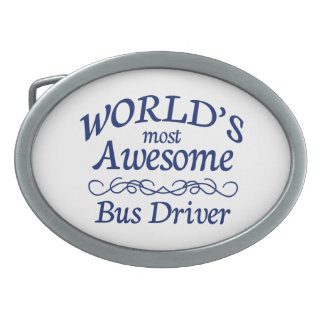 World's Most Awesome Bus Driver Belt Buckle