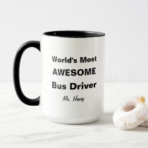World's Most Awesome Bus Driver Personalized Mug