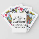 World's Most Awesome Capricorn Bicycle Playing Cards
