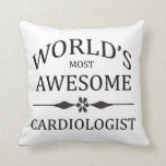 World's Most Awesome Cardiologist Throw Pillow