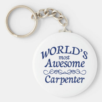 World's Most Awesome Carpenter Basic Round Button Keychain