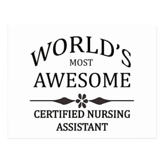 World's Most Awesome Certified Nursing Assistant Post Card